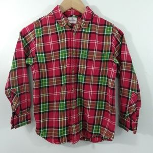 Hanna Anderson Kids Flannel Shirt Long Sleeve Size